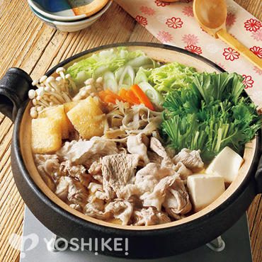 豚肉と水菜のはりはり鍋