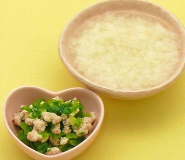 パンがゆ・鶏肉と白菜のやわらか煮