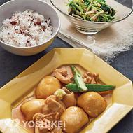 鶏肉と里芋のつや煮