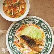 白身魚のポアレ ~トマトクリームソース~