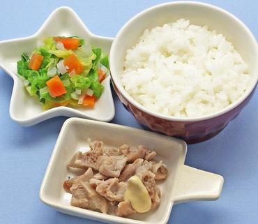 蒸し鶏・野菜のやわらか煮・おかゆ