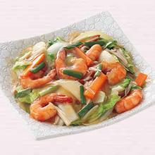 えびと野菜のとろみ炒め