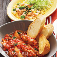 豚肉ロールのトマト煮込み
