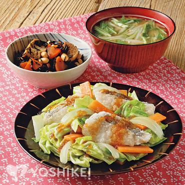 白身魚と野菜の和風おろし