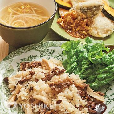 牛肉の韓国風炊き込みごはん