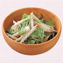 ごぼうと水菜のサラダ
