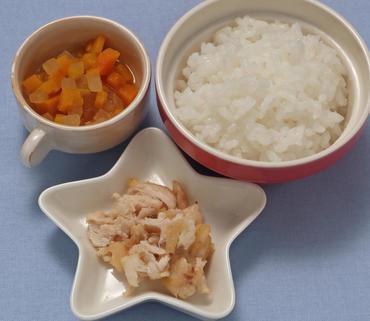 さばのムニエル・野菜スープ・おかゆ