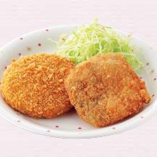 白身魚フライ&キャベツメンチカツ