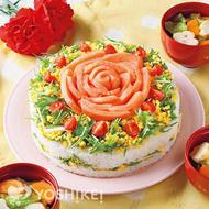 サーモンのすしケーキ