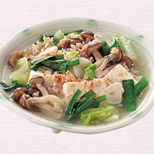 そぼろ豆腐の塩すき煮