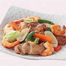 豚肉とえびの中華炒め