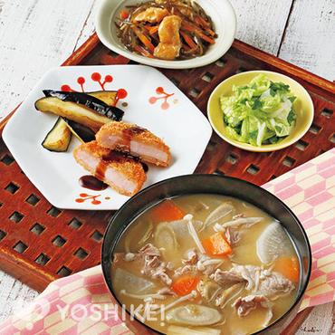 <豚汁定食>豚汁