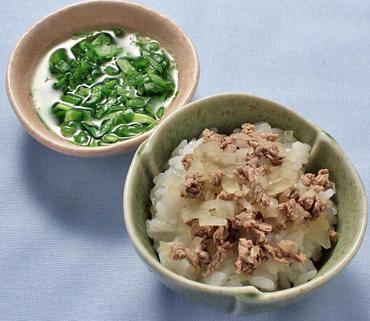 牛丼・レタスのやわらか煮