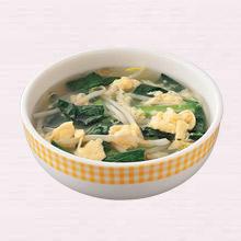 もやしと青菜のかき玉スープ