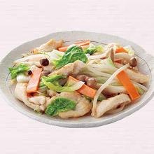 鶏肉と白菜のうま塩炒め