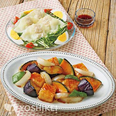 いかと夏野菜の南蛮だれ