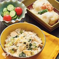 鯛と野沢菜の炊き込みごはん