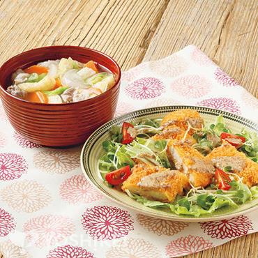 カジキマグロのサラダカツ