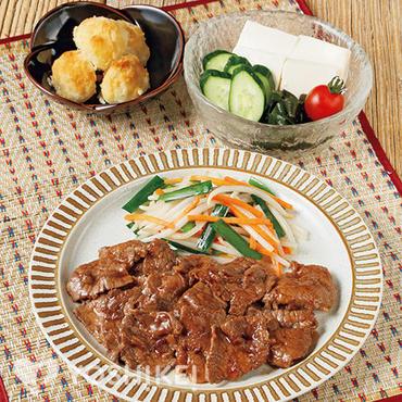 牛肉のにんにくじょうゆ焼き