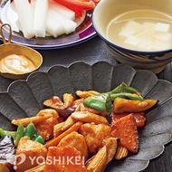 鶏肉と夏野菜の南蛮炒め