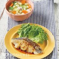白身魚のハニーマスタードソース