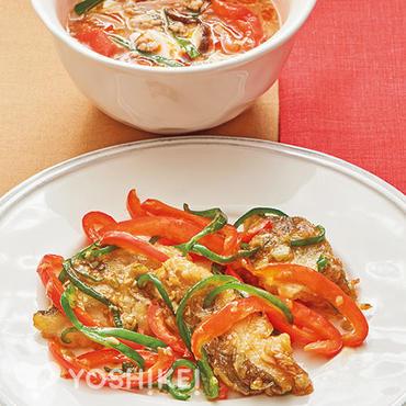 白身魚の青椒(チンジャオ)風炒め