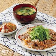 牛肉と野菜のごま酢