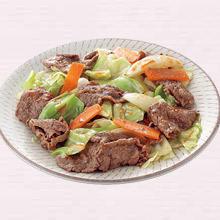 牛肉とキャベツのみそ炒め