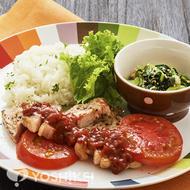 ポークソテー~トマトと野菜のタルタルソース~