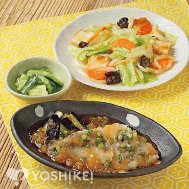 白身魚となすのおろし煮