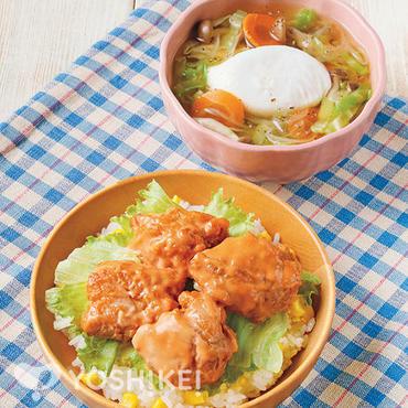 鶏マヨから揚げ丼