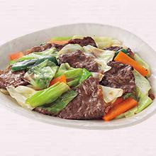 牛肉とキャベツの甘辛炒め