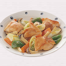 鶏肉のマヨ醤油炒め
