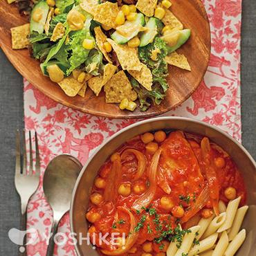 ひよこ豆とチキンのトマト煮込み
