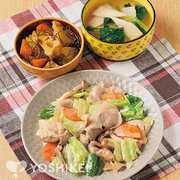 豚肉とキャベツのオイマヨ炒め
