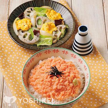 サーモンすきみ丼