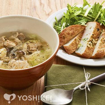鶏肉と葱のスープ仕立て
