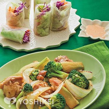 鶏とブロッコリーのタイ風炒め