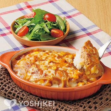 とろ~りチーズのカレーハンバーグドリア