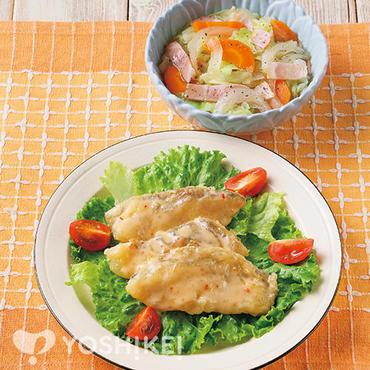 白身魚のチリマヨソース