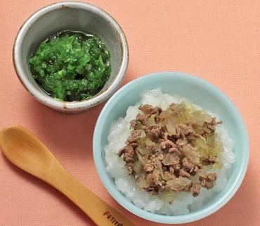 牛丼・レタスと胡瓜のやわらか煮