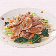 豚肉のオニオンソース