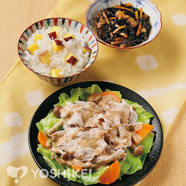 温野菜の豚しゃぶサラダ