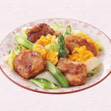 鶏肉とアスパラのバター醤油炒め