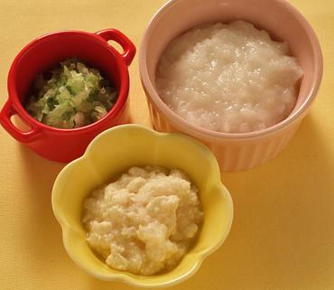 豆腐のおろしあえ・キャベツの煮つぶし・おかゆ