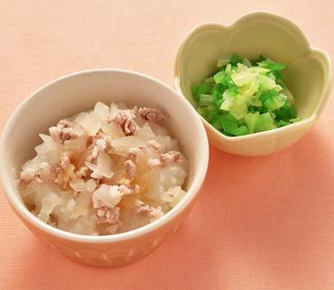 豚丼・白菜とピーマンのやわらか煮