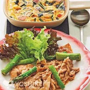 アスパラと豚肉の生姜焼き