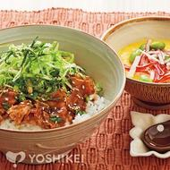 薬味と食べるポークジンジャー丼