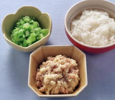 そぼろ豆腐・やわらかキャベツ・おかゆ