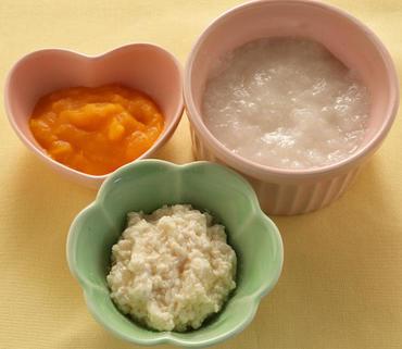 つぶし豆腐・かぼちゃのやわらか煮・おかゆ